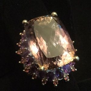 Genuine Top Quality Ametrine & Amethyst Ring